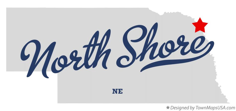 Map of North Shore Nebraska NE