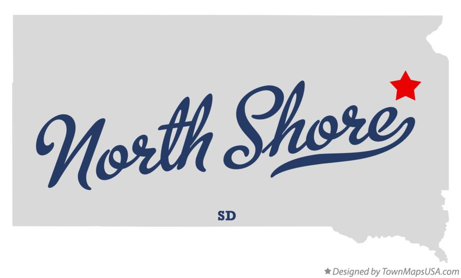 Map of North Shore South Dakota SD
