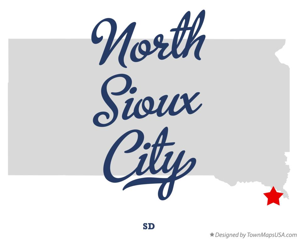 Map of North Sioux City South Dakota SD