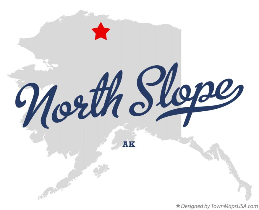 Map of North Slope Alaska AK