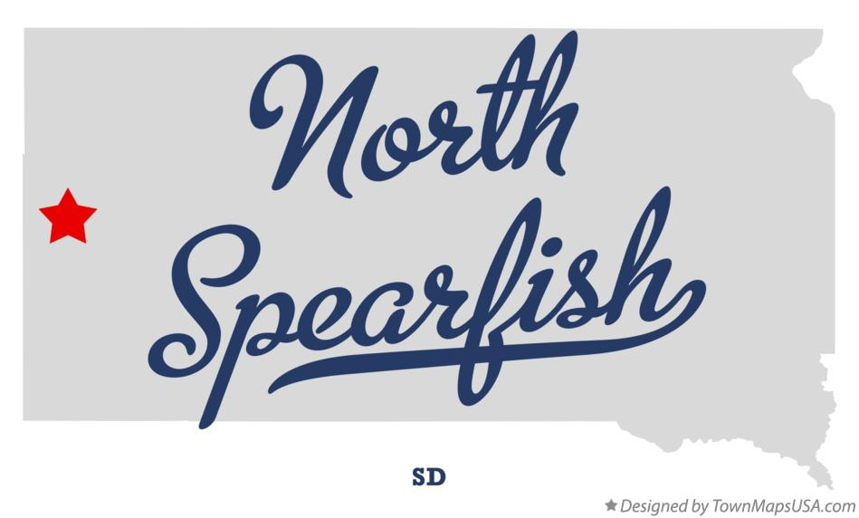 Map of North Spearfish South Dakota SD