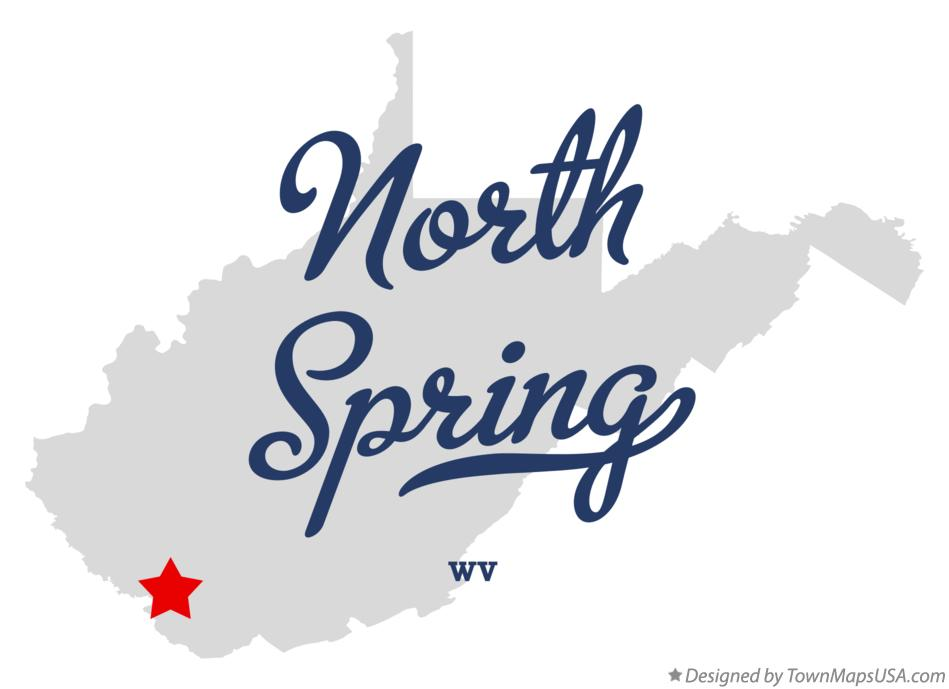 Map of North Spring West Virginia WV