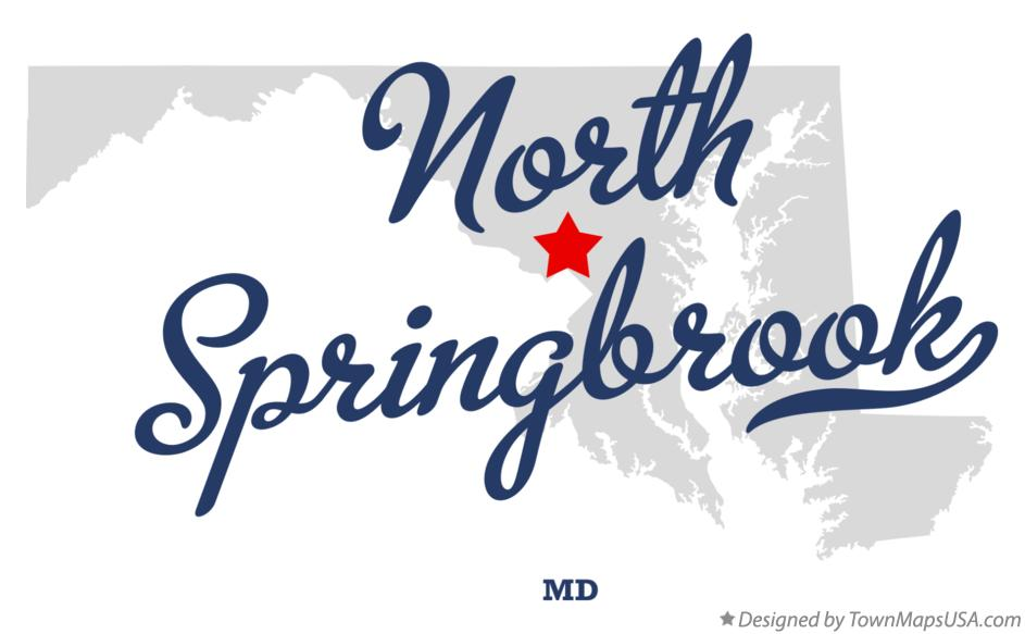 Map of North Springbrook Maryland MD