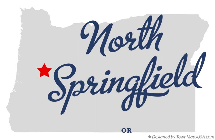 Map of North Springfield Oregon OR