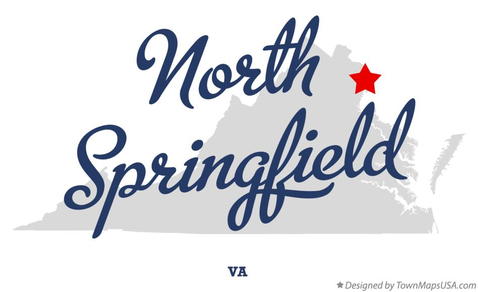 Map of North Springfield Virginia VA