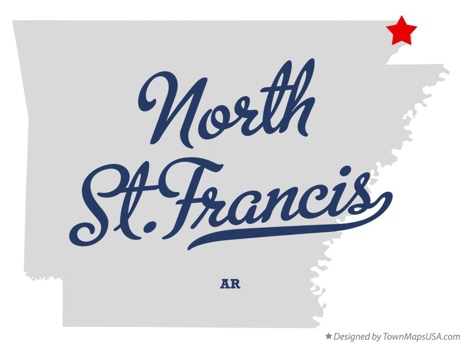 Map of North St.Francis Arkansas AR