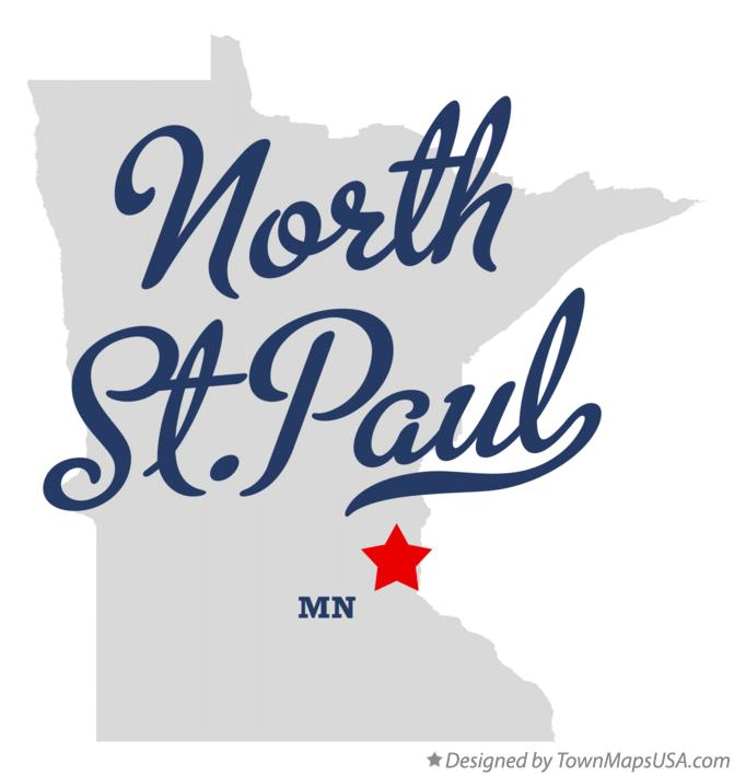 Map of North St.Paul Minnesota MN