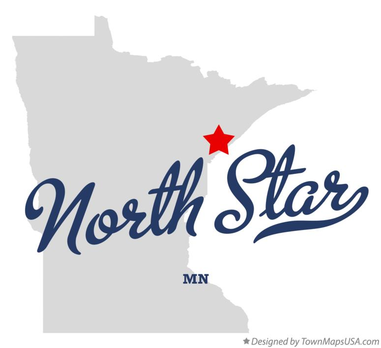 Map of North Star Minnesota MN