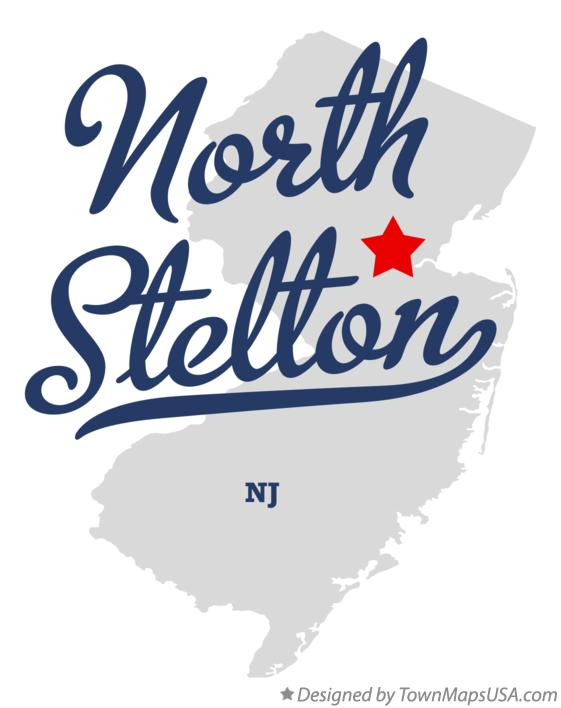 Map of North Stelton New Jersey NJ