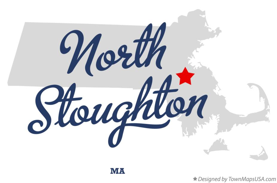 Map of North Stoughton Massachusetts MA