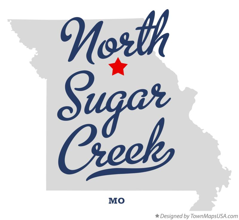 Map of North Sugar Creek Missouri MO