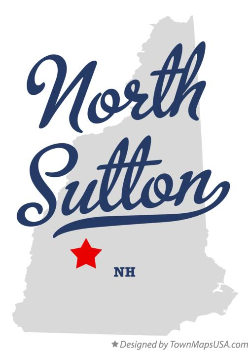 Map of North Sutton New Hampshire NH