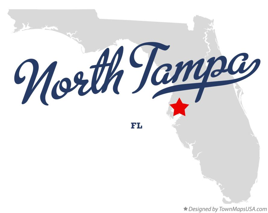 Map of North Tampa Florida FL