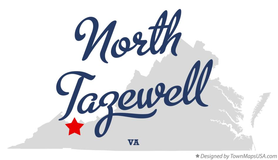 Map of North Tazewell Virginia VA