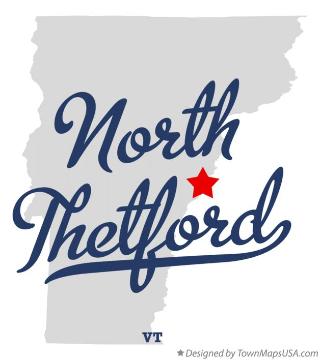 Map of North Thetford Vermont VT