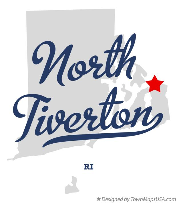 Map of North Tiverton Rhode Island RI