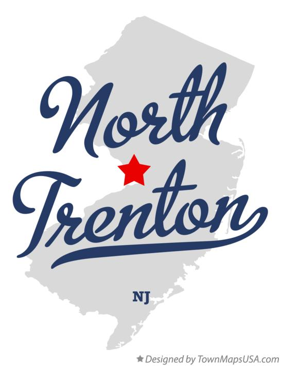 Map of North Trenton New Jersey NJ