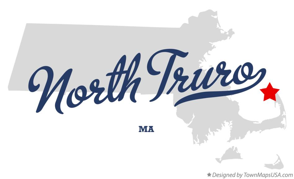 Map of North Truro Massachusetts MA