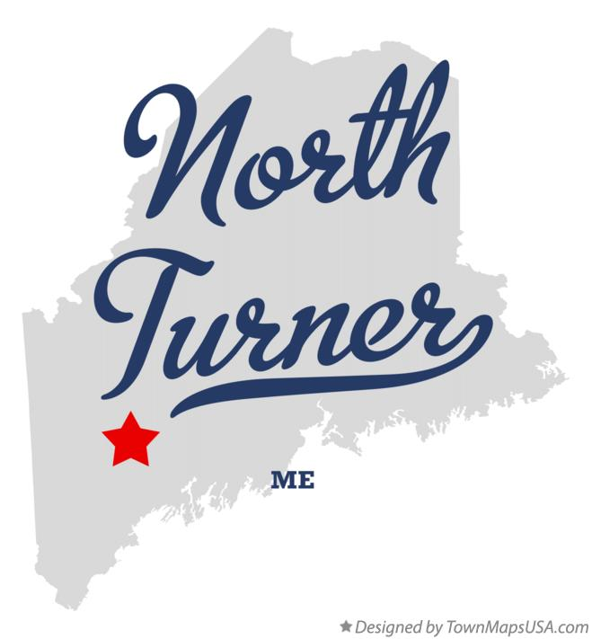 Map of North Turner Maine ME