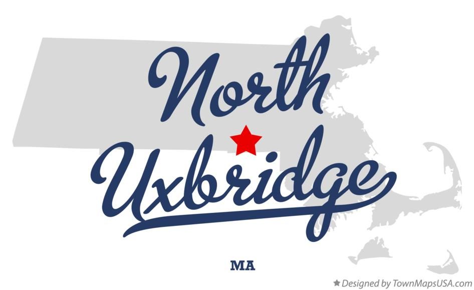 Map of North Uxbridge Massachusetts MA
