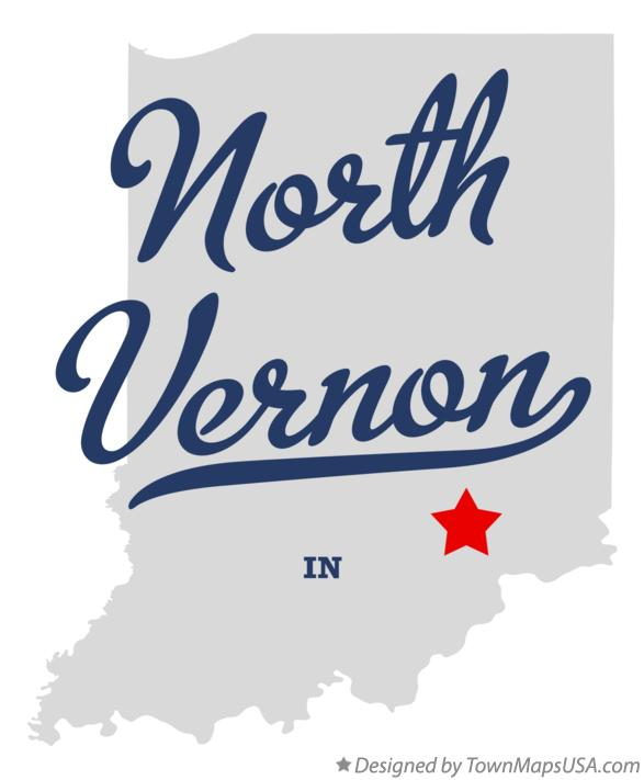 Map of North Vernon Indiana IN