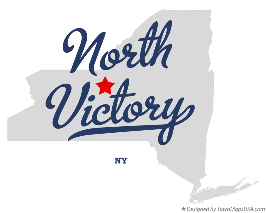 Map of North Victory New York NY