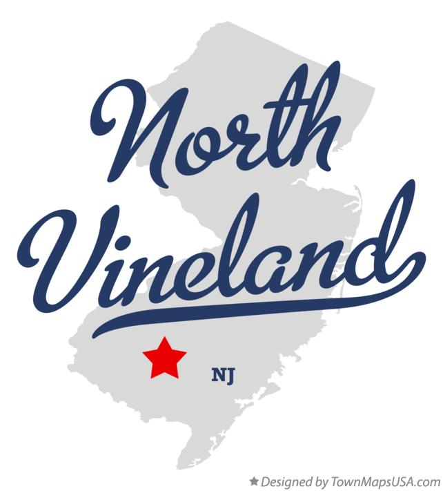 Map of North Vineland New Jersey NJ