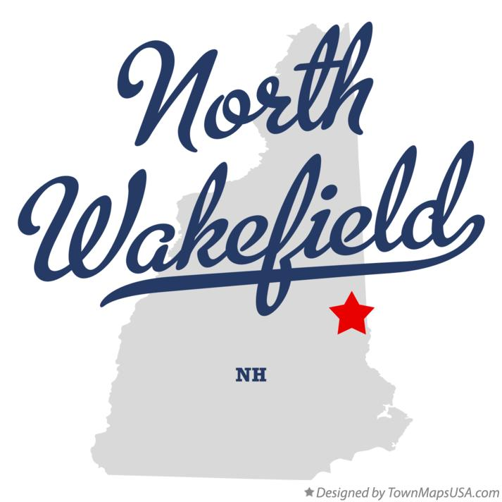 Map of North Wakefield New Hampshire NH