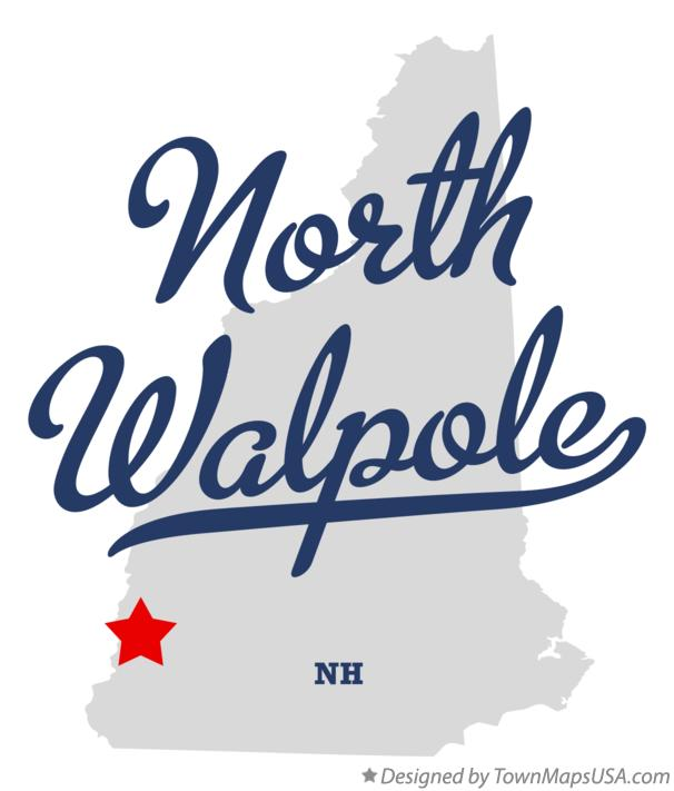 Map of North Walpole New Hampshire NH