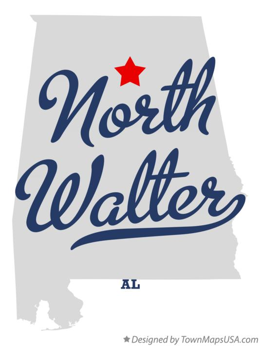 Map of North Walter Alabama AL