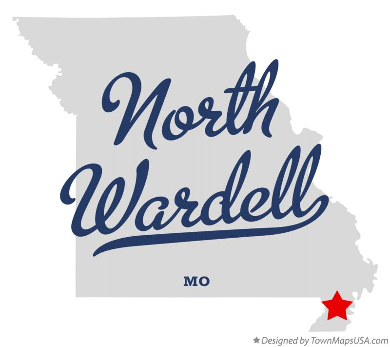 Map of North Wardell Missouri MO