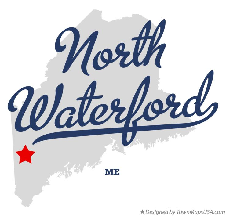 Map of North Waterford Maine ME