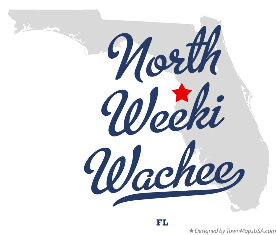 Map of North Weeki Wachee Florida FL
