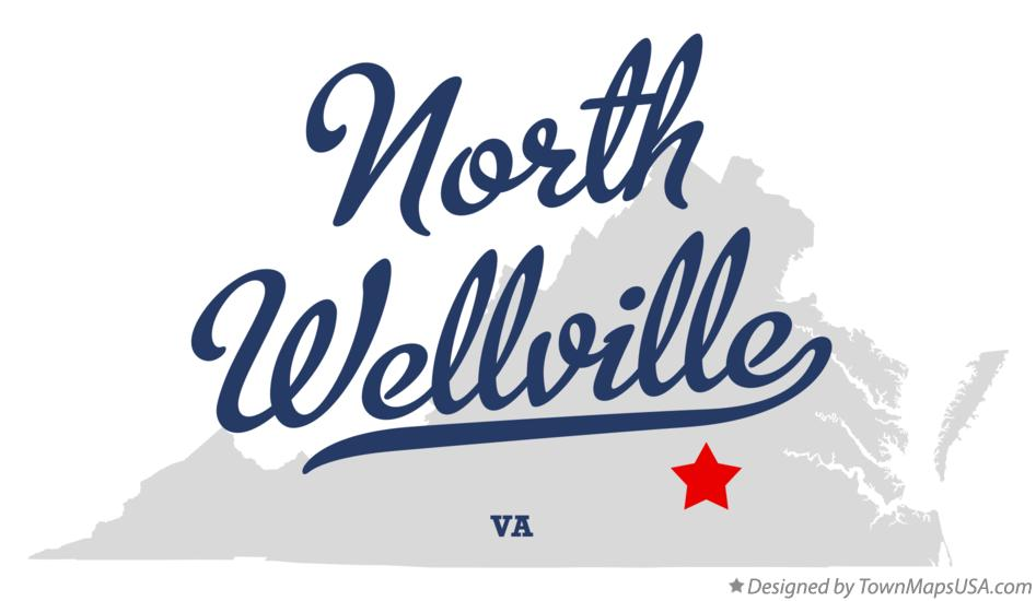 Map of North Wellville Virginia VA