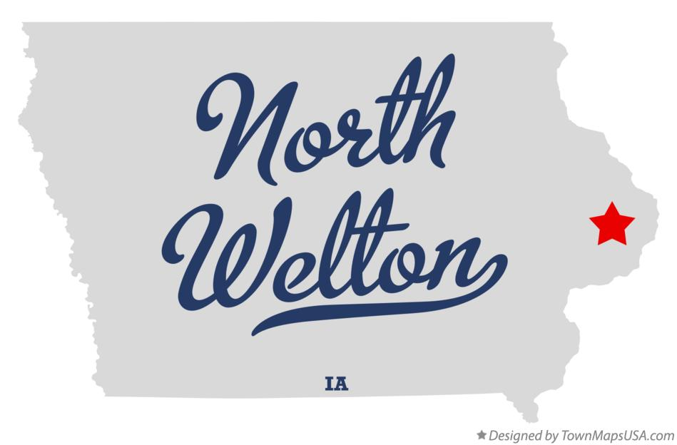 Map of North Welton Iowa IA