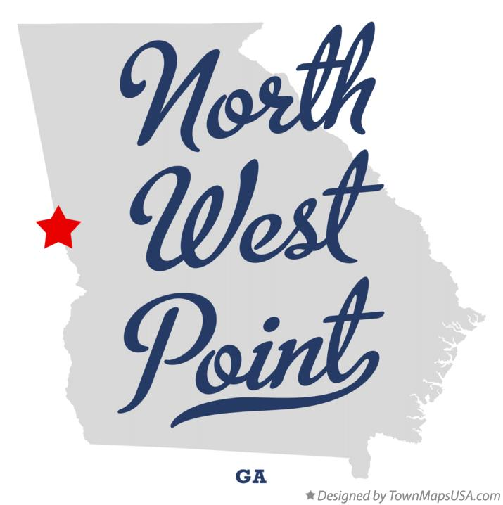 Map of North West Point Georgia GA