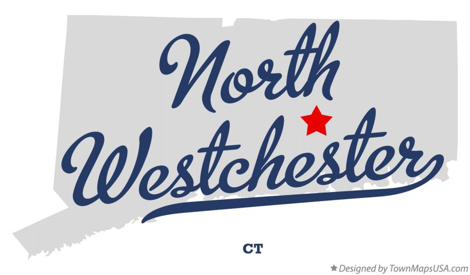 Map of North Westchester Connecticut CT