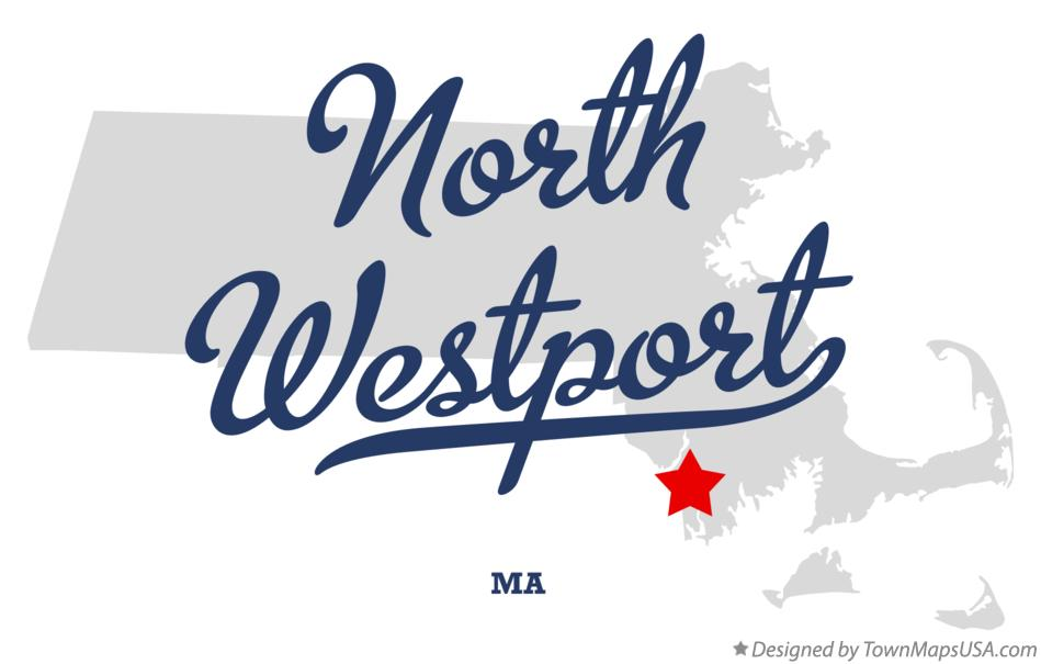 Map of North Westport Massachusetts MA