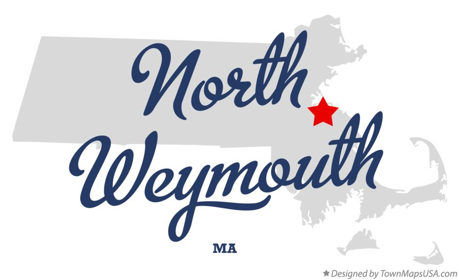 Map of North Weymouth Massachusetts MA
