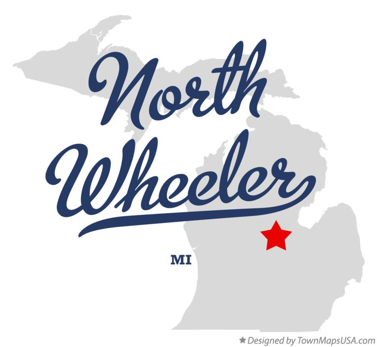 Map of North Wheeler Michigan MI