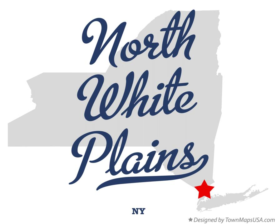Map of North White Plains New York NY