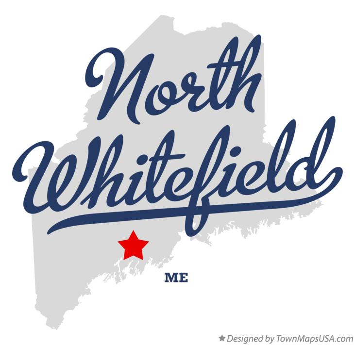Map of North Whitefield Maine ME
