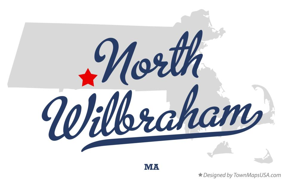 Map of North Wilbraham Massachusetts MA
