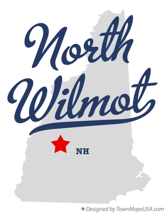 Map of North Wilmot New Hampshire NH