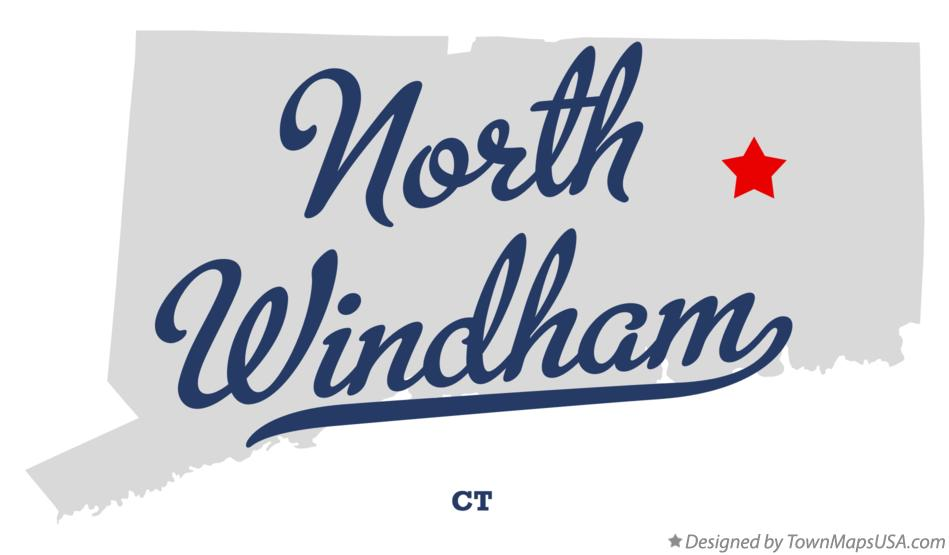 Map of North Windham Connecticut CT