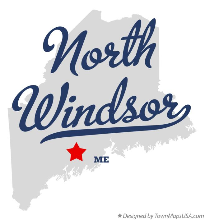 Map of North Windsor Maine ME
