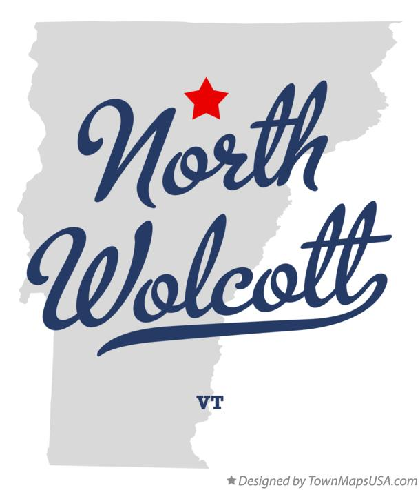 Map of North Wolcott Vermont VT