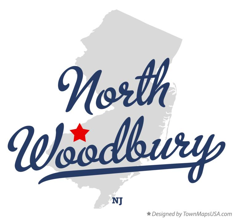 Map of North Woodbury New Jersey NJ