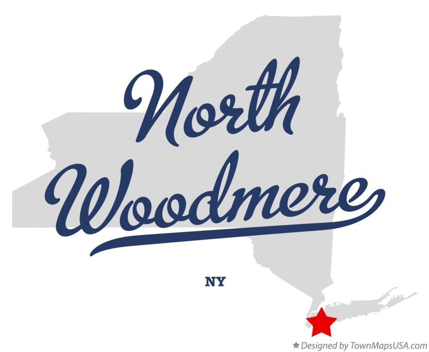 Map of North Woodmere New York NY