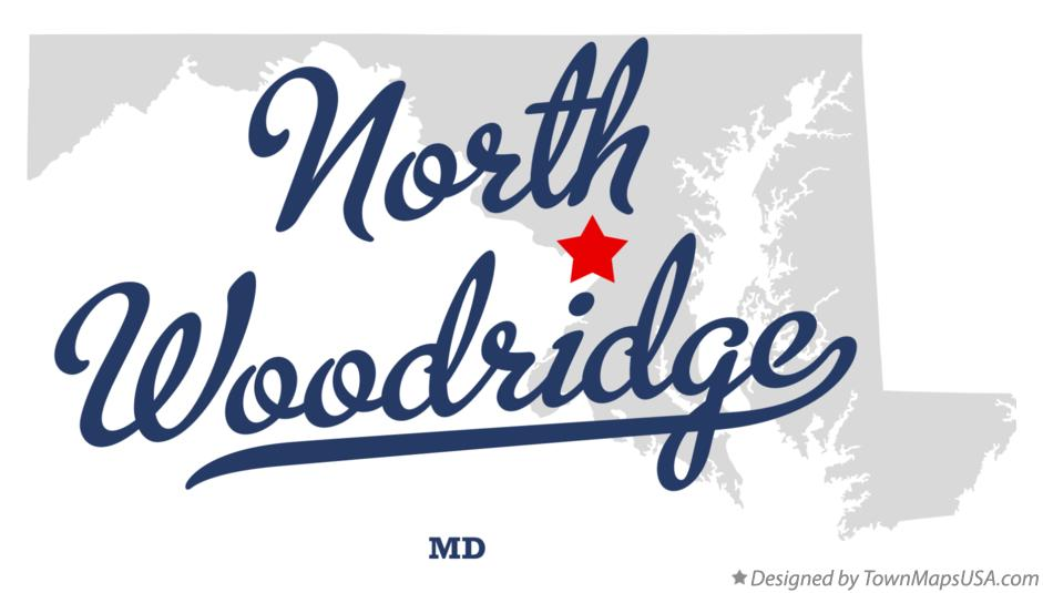 Map of North Woodridge Maryland MD
